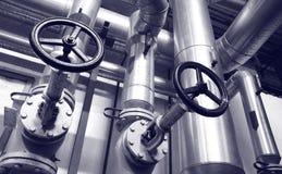 Tubos del gas y de petróleo de la industria Imágenes de archivo libres de regalías