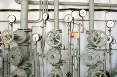 Tubos del hierro para el abastecimiento de agua Imagen de archivo libre de regalías