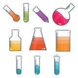 Tubos del laboratorio stock de ilustración