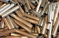 Tubos del metal de Cutted Imagen de archivo