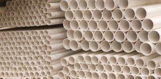 Tubos del PVC Imagen de archivo