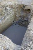 Tubos del Pvc para el abastecimiento de agua Imagen de archivo