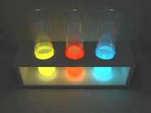 Tubos 2 do laboratório Fotografia de Stock