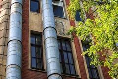 Tubos en el edificio Fotografía de archivo