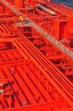 Tubos en la cubierta del petrolero Foto de archivo