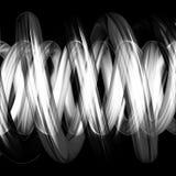 Tubos espirales blancos y negros i Fotografía de archivo