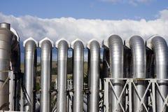 Tubos geotérmicos de la central eléctrica Imagen de archivo