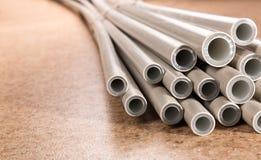 Tubos industriais plásticos Fotos de Stock