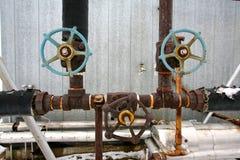 Tubos industriales viejos Foto de archivo libre de regalías