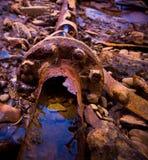 Tubos oxidados Foto de archivo libre de regalías