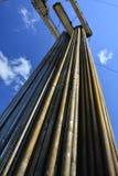 Tubos para los pozos del petróleo y gas de la perforación Fotografía de archivo
