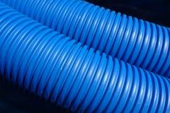 Tubos plásticos acanalados Foto de archivo libre de regalías