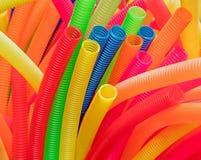 Tubos plásticos acanalados Imagen de archivo libre de regalías