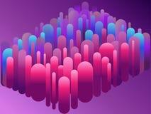 Tubos plásticos fundo do sumário 3d, conceito do trabalho da equipe ilustração stock