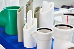 Tubos plásticos para el abastecimiento de agua industrial Imágenes de archivo libres de regalías