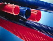 Tubos plásticos Imagen de archivo libre de regalías