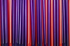 Tubos rojos y púrpuras Imagen de archivo libre de regalías