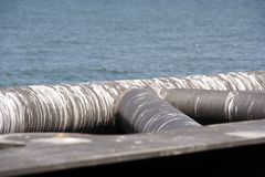Tubos sucios Foto de archivo libre de regalías