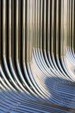 Tubos torcidos del cromo Fotos de archivo