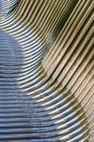 Tubos torcidos del cromo Imagen de archivo libre de regalías