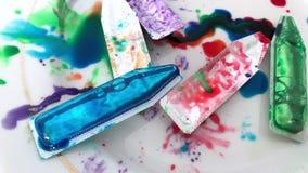 Tubos usados de la pintura para los huevos almacen de video