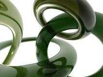 Tubos verdes abstractos Imagen de archivo libre de regalías