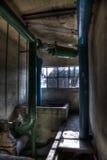 Tubos verdes y azules Fotografía de archivo libre de regalías