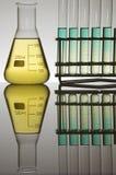 Tubos y frasco de prueba Fotos de archivo libres de regalías