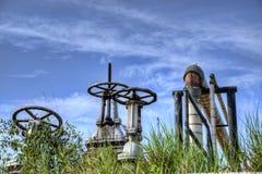 Tubos y válvulas industriales Imagen de archivo