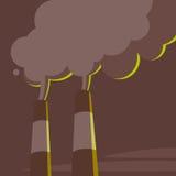 Tubos y vapor de la central eléctrica Fotos de archivo libres de regalías