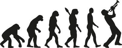 Tubowego gracza ewolucja ilustracja wektor