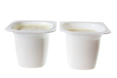 Tubs of Yoghurt Royalty Free Stock Photography