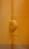 Tubulação amarela Fotos de Stock Royalty Free