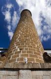 Tubulação antiga do tijolo (1895) na fábrica velha do cana-de-açúcar mauritius Fotos de Stock