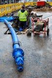 Tubulação azul Fotos de Stock Royalty Free