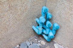 Tubulação azul imagens de stock