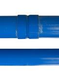 Tubulação azul do pvc Fotografia de Stock Royalty Free