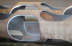 Tubulação com furos ovais Fotografia de Stock