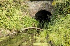 Tubulação da água de esgoto Fotografia de Stock