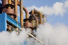 Tubulação da fábrica Fotos de Stock Royalty Free