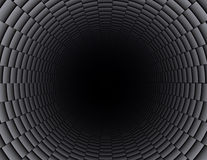 Tubulação da fibra do carbono Fotografia de Stock
