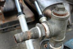 Tubulação da válvula da água foto de stock
