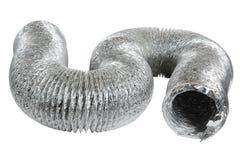 Tubulação da ventilação de exaustão isolada no fundo branco foto de stock royalty free
