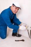Tubulação de água da fixação do canalizador Imagem de Stock Royalty Free