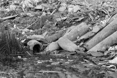 Tubulação de águas residuais fotos de stock royalty free