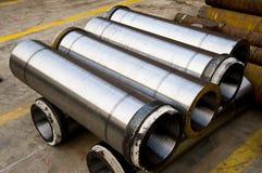 Tubulação de aço Fotografia de Stock Royalty Free