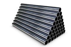 Tubulação de aço empilhada Fotos de Stock Royalty Free