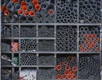 Tubulação de aço no tamanco foto de stock