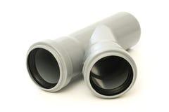 Tubulação de dreno cinzenta nova Foto de Stock