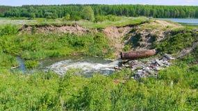Tubulação de dreno da represa Imagem de Stock